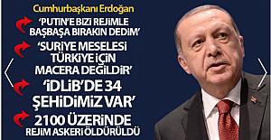 Cumhurbaşkanı Erdoğan: 'Suriye meselesi Türkiye için asla bir macera, sınırlarını genişletme çabası değildir'