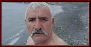 Buz adam denize girdi, Coronasız hayat diledi!..