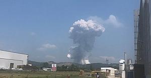 150 kişinin çalıştığı fabrika patladı