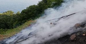 Kozlu'da çıkan yangın büyümeden söndürüldü