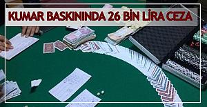 Kumar baskını: 26 Bin TL ceza