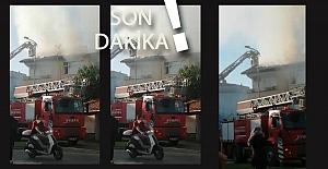 Meclis Üyesinin evi yanıyor: OYKA'nın itfaiye aracı da olay yerinde