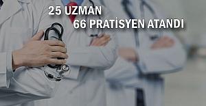 Zonguldak'a 25 Uzman, 66 Pratisyen Hekim atandı