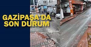 Sağanak yağışın ardından Gazipaşa'da son durum