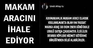Altay, makam aracını satışa çıkardı