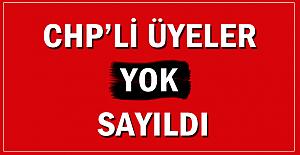 CHP'li üyeler yok sayıldı