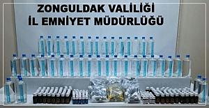 Sahte içki yapımında kullanılan malzeme ele geçirildi