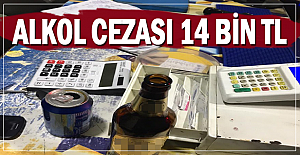 Alkol fena çarptı; 14 Bin TL ceza!!