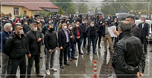 Madenciden Torba Yasa protestosu
