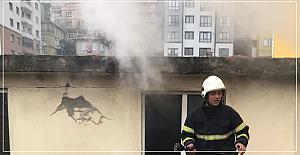 Kozlu'da yangın korkuttu