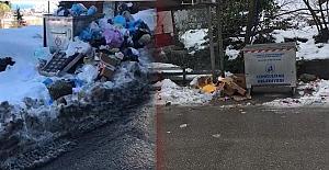 Belediye çöpleri topladı, vatandaş teşekkür etti