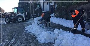 Ereğli'de kar temizliği
