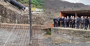 Köy konağı temeli atıldı