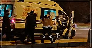 Yerde yatan adam hastaneye kaldırıldı