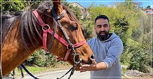 Arkadaşına yarış atı hediye etti
