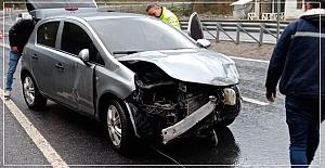 Kozlu'da kaza; 2 yaralı