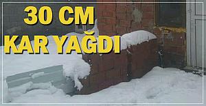 Nisan ayında 30 CM'lik kar