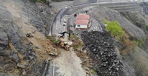 Zonguldak#039;ta korkutan heyelan