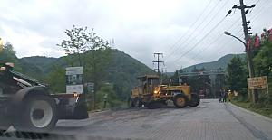 Cumhurbaşkanı şaşkınlığı: Parke yola asfalt döktüler