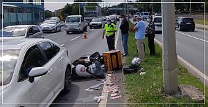 Motor kazası; 1 yaralı
