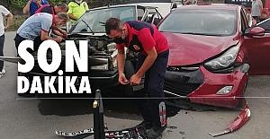 Kozlu'da trafik kazası: 1 yaralı