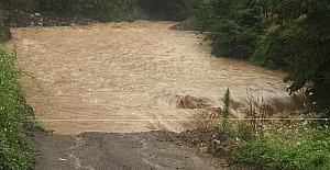 Şiddetli yağış sele dönüştü: Gümeli'de sel…