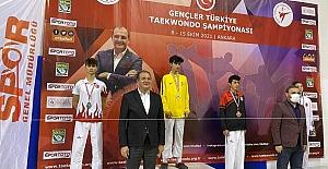 Ereğlili tekvandocu Türkiye 2.'si oldu