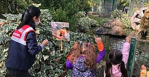 Jandarma, çocukları hayvanat bahçesi ile buluşturdu