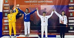 Tekvando'da Türkiye 3.'sü oldu