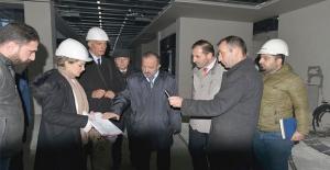 Rektör Çufalı, Yeni Kütüphane binasını inceledi