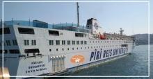 Piri Reis Üniversite Gemisi Zonguldak'ta demirledi...