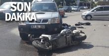 Motosiklet pick-up la ile çarpıştı