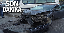 Devrek'te maddi hasarlı kaza!...