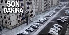Zonguldak'ın 3 ilçesine kar yağdı...