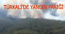 Türkali'de yangın paniği