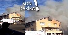 Flaş... Ev yanıyor, itfaiye olay yerinde