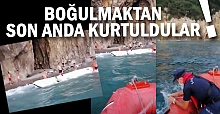 Tekne battı, mahsur kaldılar: Son anda...