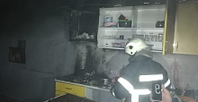 Apartmanda yangın çıktı: Mutfak kullanılmaz hale geldi
