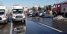 Devrek'te kaza: Ambulanslar olay yerinde