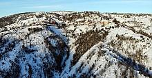 Zonguldak ormanlarında kar güzelliği
